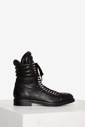 Lust For Life Oasis Leather Combat Boot Black