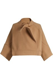 Chloe Neck Strap Wool Blend Jacket Camel