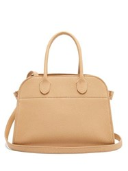 The Row Margaux 10 Leather Bag Light Tan