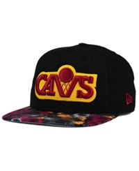 New Era Cleveland Cavaliers Floral Shadow 9Fifty Snapback Cap Black