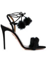 Aquazzura 'Fancy Nancy' Sandals Black