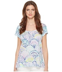 2280d7bfc4ce0c Lilly Pulitzer Inara Linen Beach Top Serene Blue Oh Shello Clothing