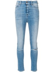 Unravel Project Skinny Fitted Jeans Blue