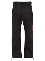 Moncler Grenoble Side Stripe Soft Shell Ski Trousers Black