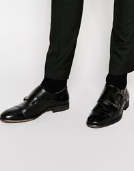 Selected Homme Bolton Monk Leather Shoe Black