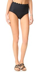 Kate Spade Marina Piccola High Waist Bikini Bottoms Black