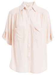 Max Studio Elbow Length Sleeve Shirt Ballet Pink