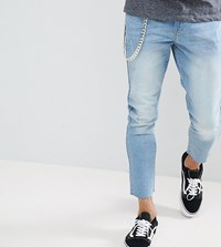 Brooklyn Supply Co. Co Lightwash Slim Cropped Jeans With Chain Cr1 Cream 1