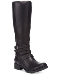 Zigi Soho Dasher Tall Shaft Lug Buckle Boots Women's Shoes Black