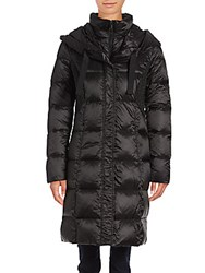 T Tahari Cassandra Long Puffer Coat Black