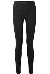 J Brand Carolina 32 High Rise Skinny Jeans Black