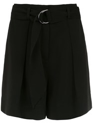 Andrea Marques Belted Shorts Black