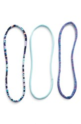 Zella 'Skinny Minnie' Headbands Blue 3 Pack Blue Veneer