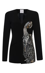 Stella Jean Magica Shawl Collar Jacket Black