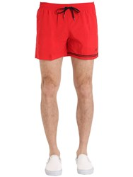 Danward Nylon Swim Shorts With Stripe Detail