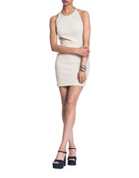 Plenty By Tracy Reese Lace Detailed Halter Bodycon Dress Ivory