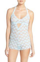 Women's Honeydew Intimates 'Mia' Open Gusset Lace Teddy Something Blue