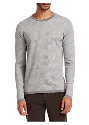 Saks Fifth Avenue Collection Wool Pullover Grey Beige