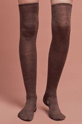 Anthropologie Dotted Over The Knee Socks Brown