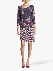 Betty And Co. Floral Print Dress Blue Rose