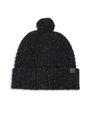 Bickley Mitchell Lambswool Blend Pom Beanie Black