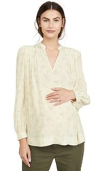 Hatch The Joselyn Blouse Cream Canterbury Bloom