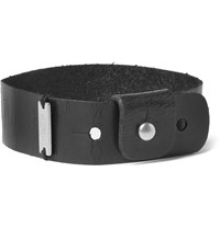Saint Laurent Festival Leather Bracelet Black