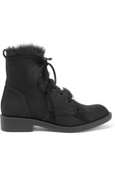 Pedro Garcia Kaede Shearling Lined Suede Boots