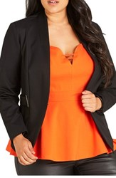City Chic Plus Size Women's Blazer Black