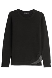 Steffen Schraut Merino Wool Pullover With Pleated Insert Black