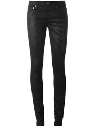 Saint Laurent Coated Skinny Jeans Black