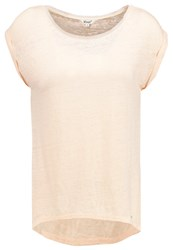 Khujo Jini Basic Tshirt Light Peach Apricot