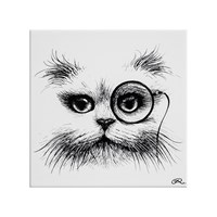 Rory Dobner Character Tile Cat Monacle
