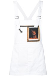 Raf Simons Robert Mapplethorpe Photo Print Dungaree Top Men Cotton Polyester 46 White