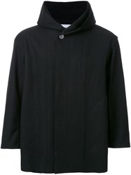 Factotum Hooded Short Coat Black