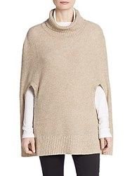 Cullen Cashmere Turtleneck Poncho Brown