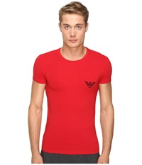 Emporio Armani Xmas Mirror Effect Eagle T Shirt Red
