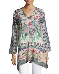 Johnny Was Tribeca Long Sleeve Floral Tunic Multi