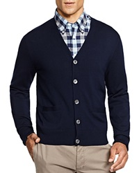 Brooks Brothers Wool Cardigan Biella Dark Blue
