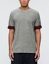 3.1 Phillip Lim Velour S S T Shirt With Rolled Jersey Cuff