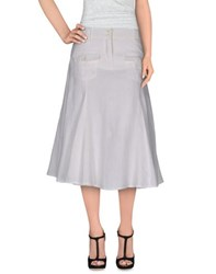 Jeans Les Copains Skirts 3 4 Length Skirts Women White