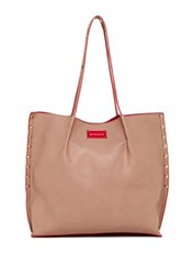 Big Buddha Cassidy Pinched Studded Tote Beige