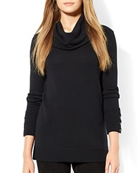 Lauren Ralph Lauren Petites Cowl Turtleneck Sweater Black