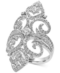 Effy Pave Classica By Diamond Filigree Ring 1 1 4 Ct. T.W. In 14K White Gold
