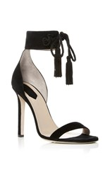 Elie Saab Suede Heeled Sandals Black