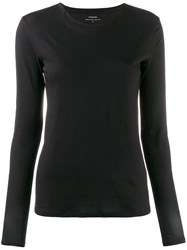 Vince Long Sleeve T Shirt Black