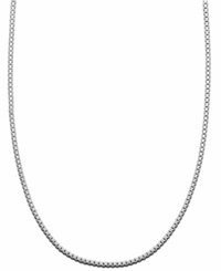 Giani Bernini Sterling Silver Necklace Box Chain