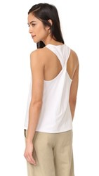 Vince Twist Back Tank White