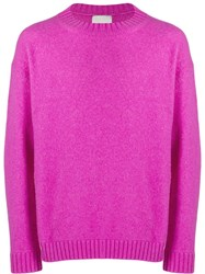 Laneus Ribbed Crew Neck Jumper Pink
