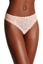 Free People Lacy Thong Pink